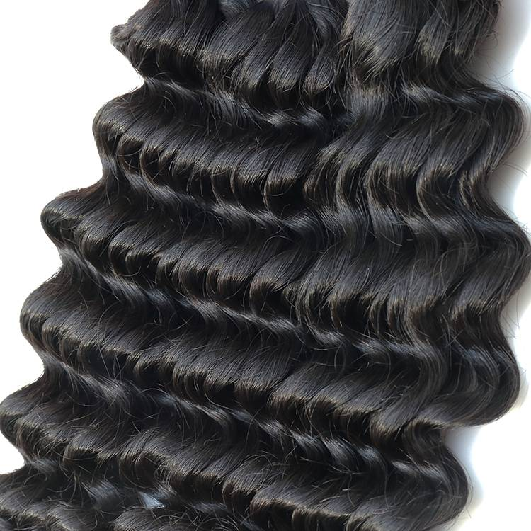 Wholesale 8-50 inch deep wave 100% raw virgin brazilian bundles hair vendors