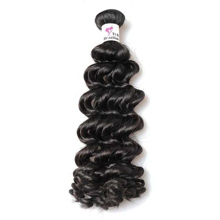 T1 Brazilian raw virgin hair bundles with cuticle aligned hair 12-26 inches deep wave bundles