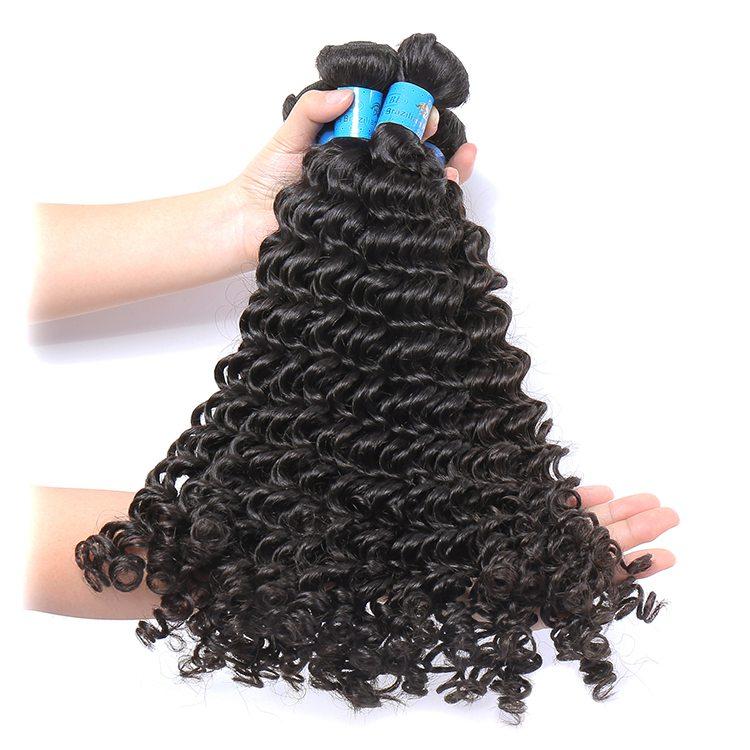 Wholesale brazilian human virign curly bundles hair 12-30 inches