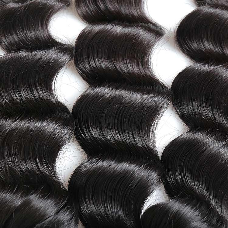 KBL Wholesale Loose Wave Premium Peruvian Hair Natural Black