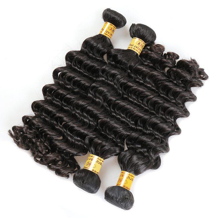 KBL Wholesale 100 Peruvian virgin Hair bundles Natural color deep wave