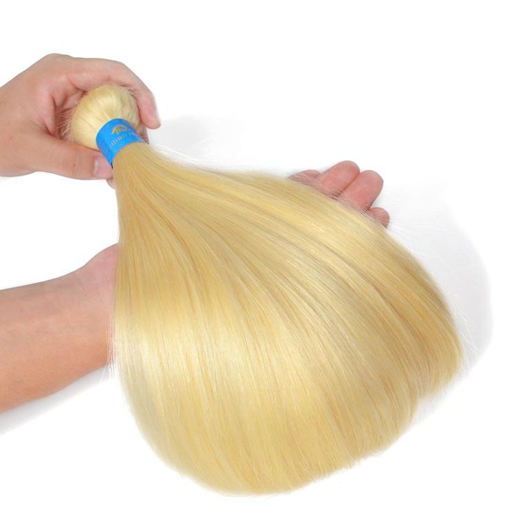 100 Virgin plastinum blonde hair 613 color