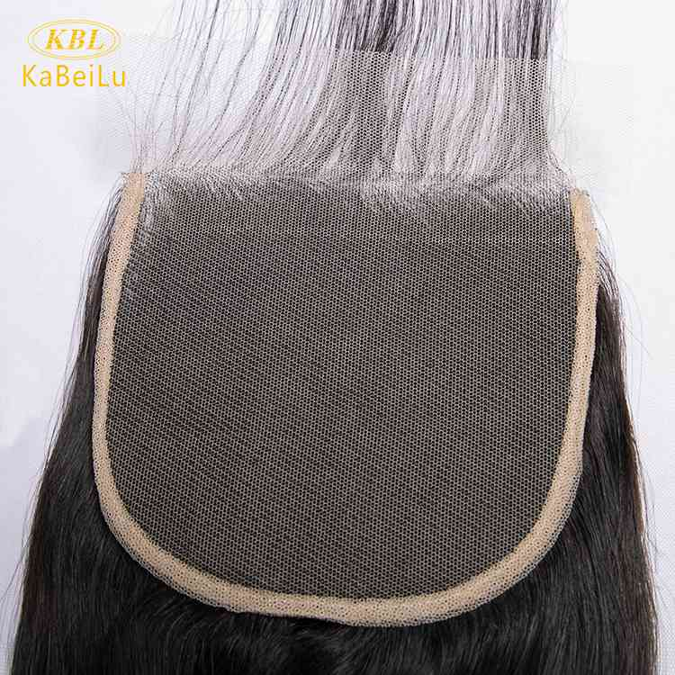 Pre-plucked 5 by 5 transparent lace closure virgin brazilian hair body wave