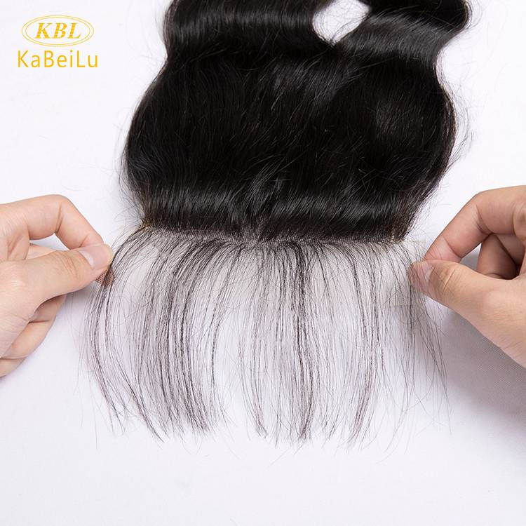 Wholesalle 5*5 pre-plucked lace closure loose wave