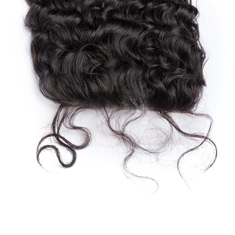 Kabeilu hair brazilian raw hair swiss lace Closure 5x5 Pre-Plucked deep wave