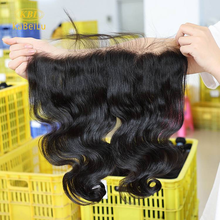 13x5 Lace frontal Virgin Human Hair Natural Hairline body wave