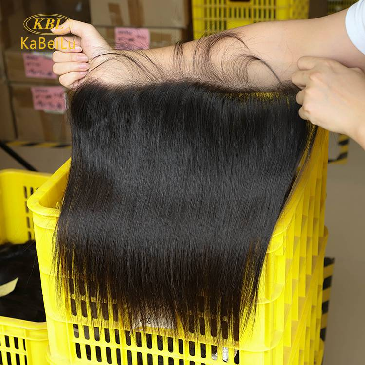 13 by 5 natural straight lace frontal with pre-plucked natural hair line