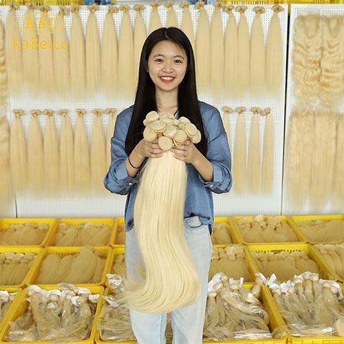 KBL Hair Factory 613 Platinum Blonde Virgin Hair Bundles