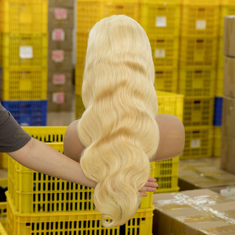 613# Platinum Blonde Frontal lacce wigs 13x6 in 180% Density
