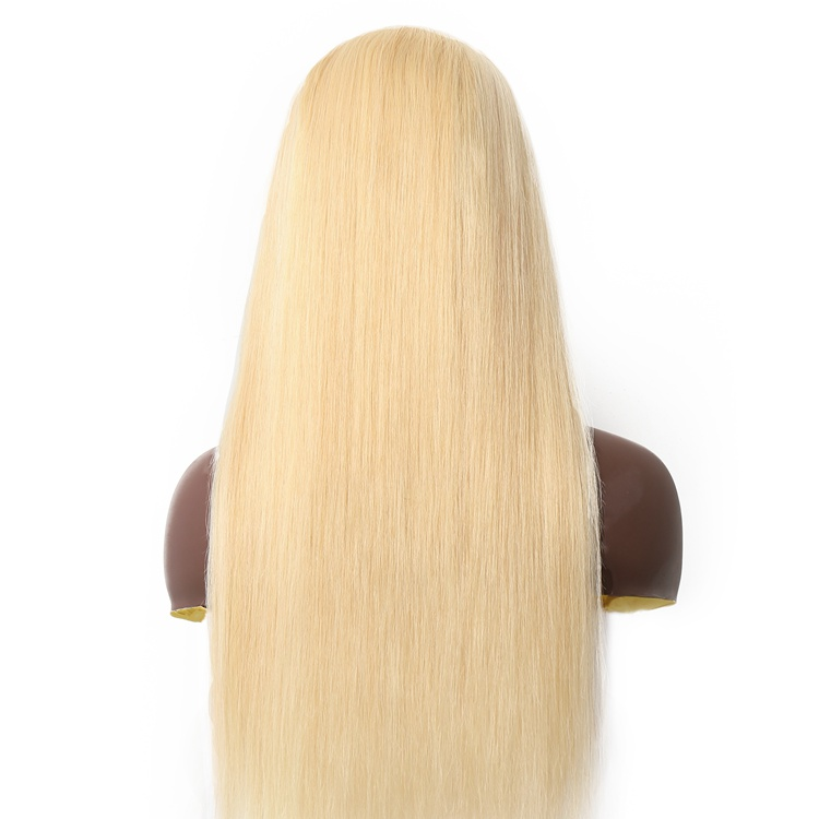 613# Platinum Blonde 13x6 front lace wigs in transparnt lace with baby hair